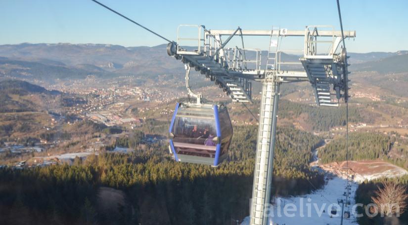 """Otvorena gondola u Ski centru """"Ravna planina"""""""