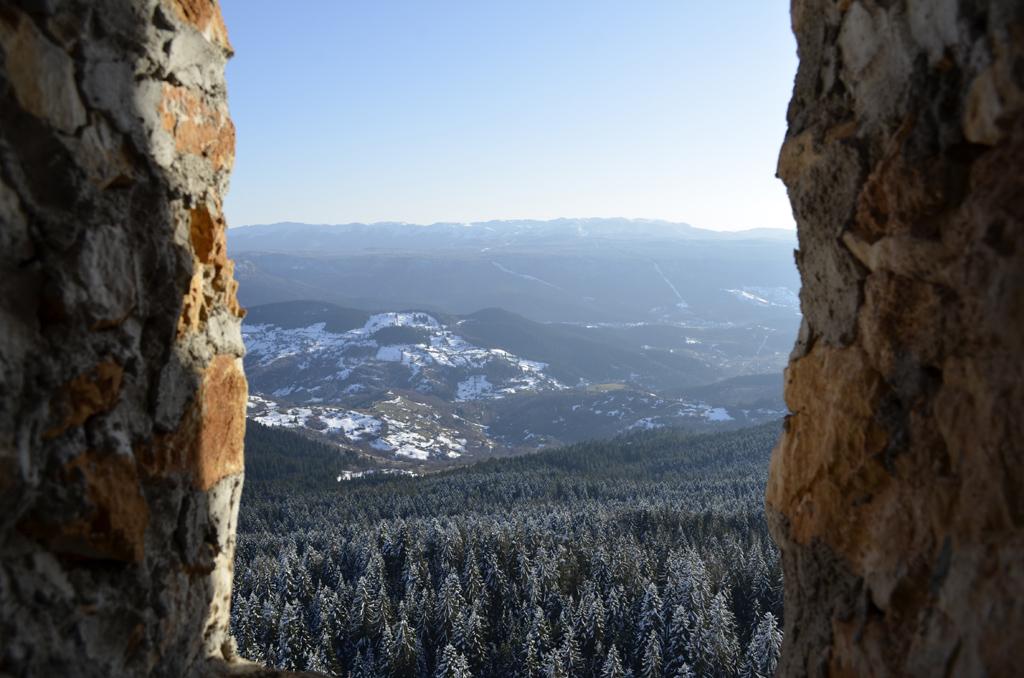 Pogled iz Novakove pećine