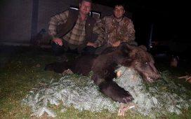 Posle lova na mrkog medvjeda na planini Romanija